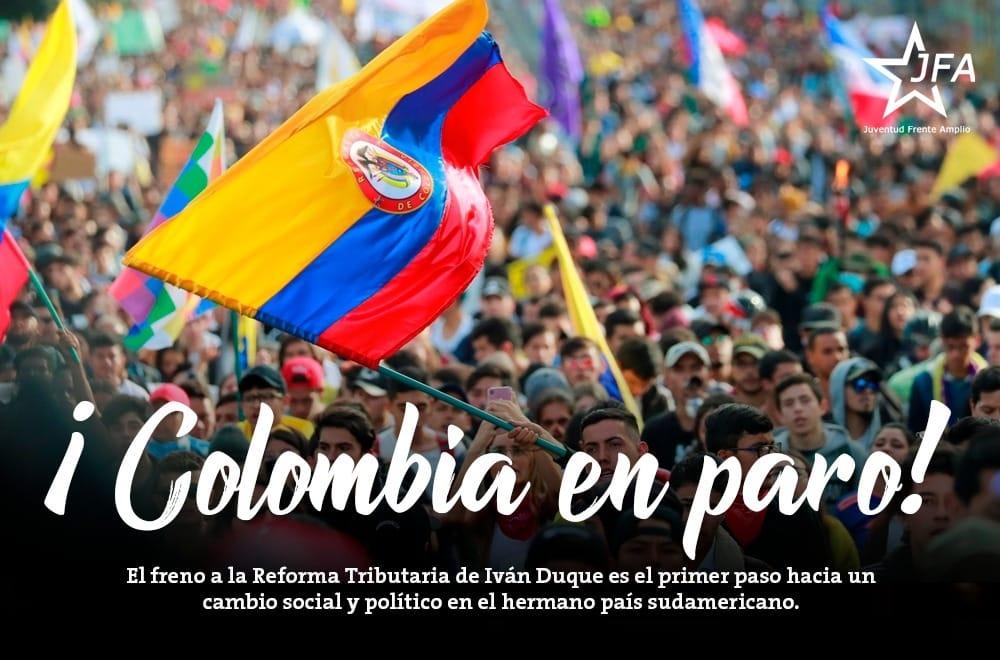 Comunicado a raíz de la violencia estatal en el Paro Nacional de Colombia