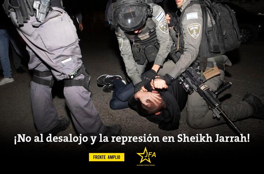 Comunicado de condena por la agresión gestada de parte del Estado de Israel, apoyado por el gobierno estadounidense, hacia la población de Palestina